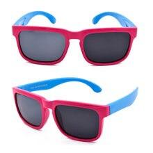 a3f739b3b5ed0 Fashion Square silicona chicos deporte niños gafas de sol niñas marca  diseñador flexible gafas de sol chrilden UV400