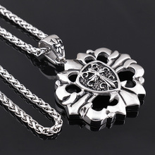 Trendy Style 316L Stainless Steel Tag Necklace Crow Heart Cross Pendant wholesale stainless steel pendants