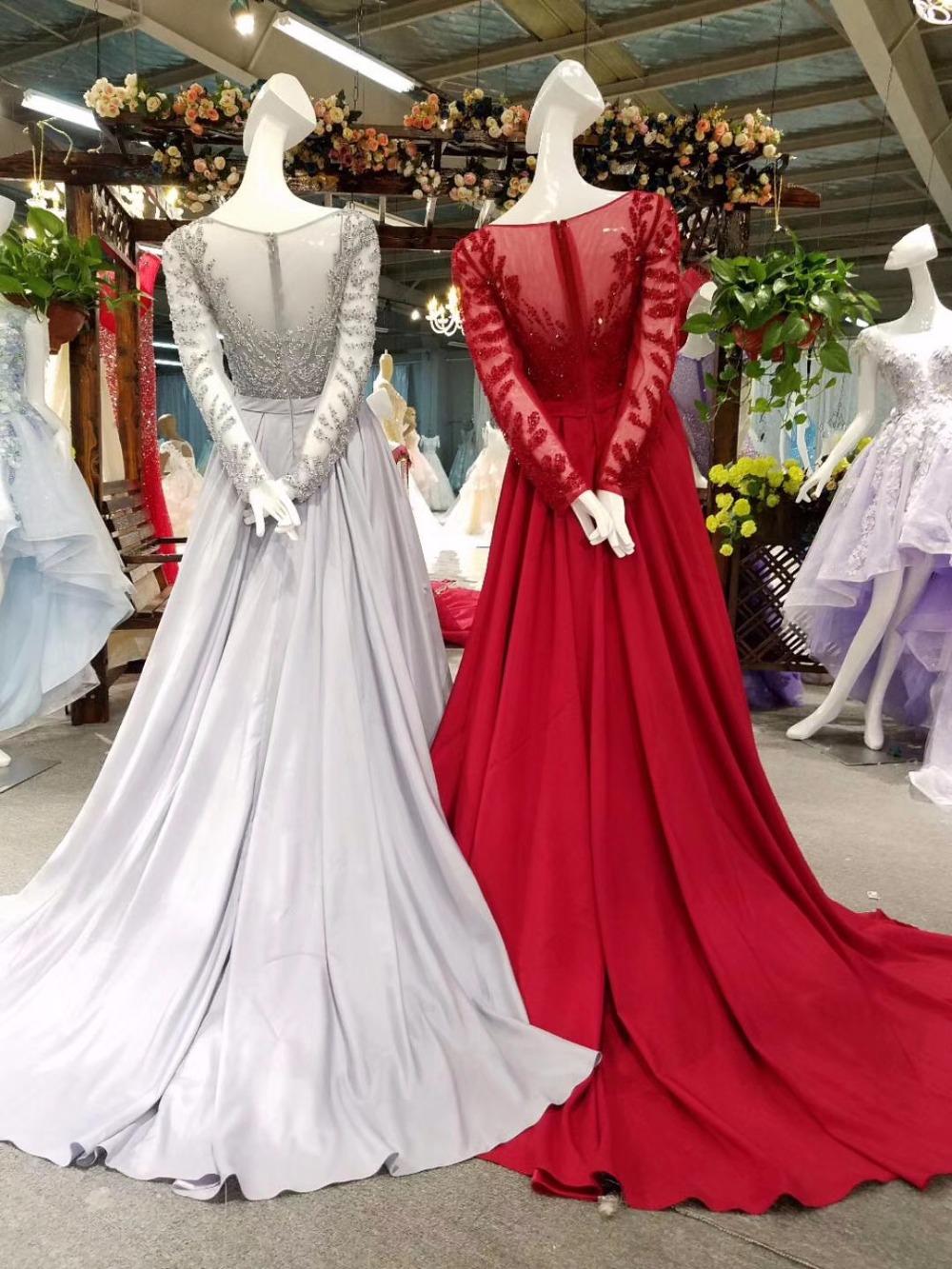 luxury beaded evening dress