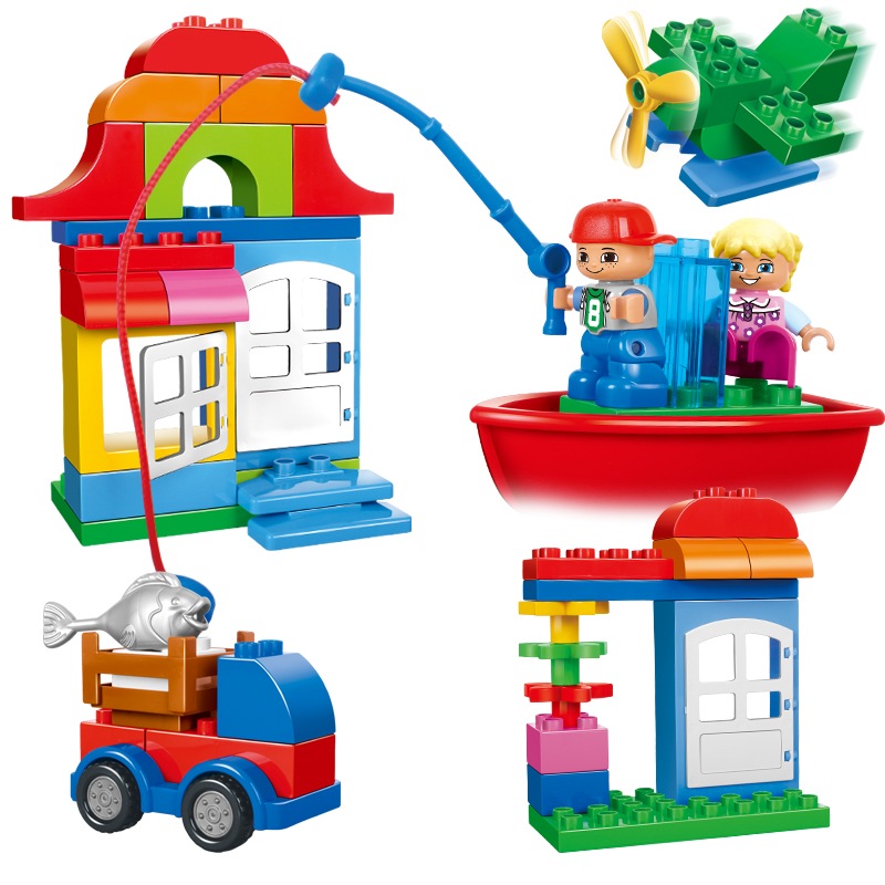 Large Size bricks CHINA brand  Building Blocks Classic Baby Toy Compatible with lego duplo  Creative Chest 10556<br>