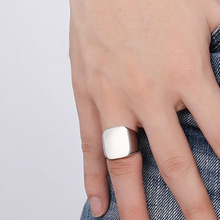 Men stainless steel Ring Cool Simple Ring Never Fade Black Silver plated Stainless Steel Men's Rings Fashion Male Jewelry Gift