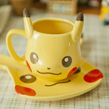 Free shipping Pikachu Coffee Mug Creative Cute Ceramic Coffee Cup for Friend Gift Super quality(China)