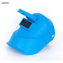 Wearing protective helmet double - layer glass insulated welding shielded argon arc welding mask