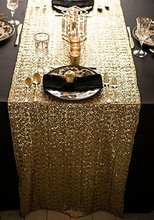 High-end Gold/Silver/Champagne/Black Sequin Table Runner Wedding Party Table Decoration Wedding Decoration Table Runner 13x108in