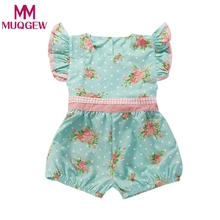 2018 new Baby Girl Rompers Summer Girls Clothing Flower Rompers Newborn Baby Clothes Cute Baby Jumpsuits Infant Girls Clothing(China)