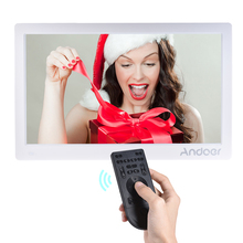 Andoer 15.6inch Digital Photo Frame HD Advertising Machine Full View IPS Screen Support Play with Remote Christmas Gift(China)
