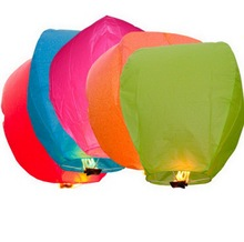 10pcs  Multi-Color Paper Chinese Lanterns Fire Sky Fly Candle Lamp for Birthday Wish Party Wedding