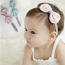 Adorable Tinsel Headbands Elastic Bowknot Soft Kids Hair Band Accessories New Hot Selling