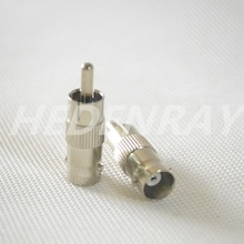 20Pcs RCA Male Plug to BNC Female Coaxial Cable AV Connector  CCTV Security Camera