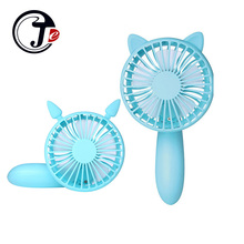 Cartoon Air Conditioning Air Conditioner Air Cooler for Home Outdoor Mini Ventilation Fans Hand Held USB Fan 1200ma Rechargeable