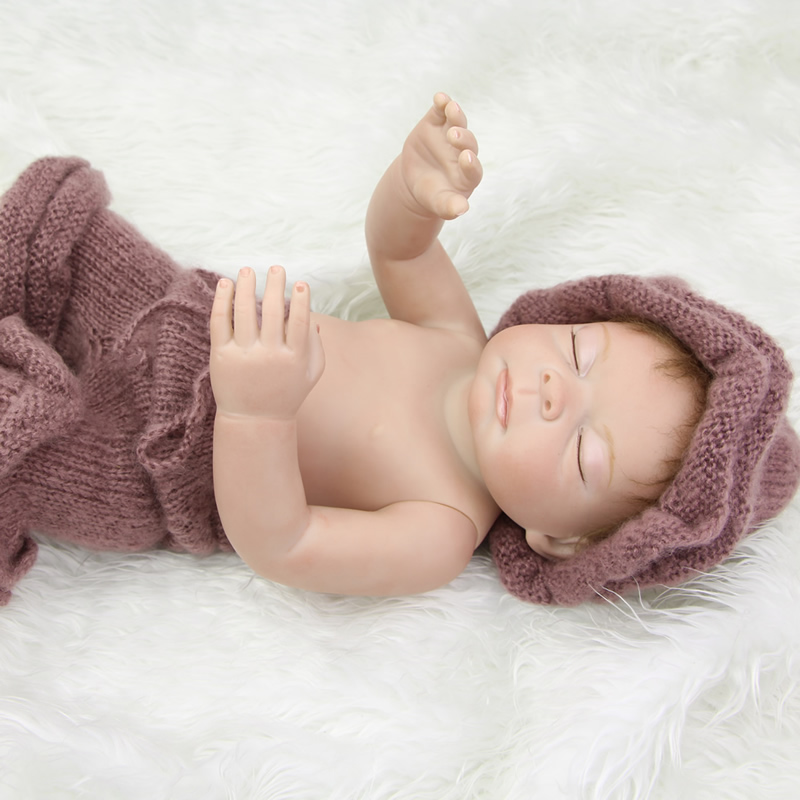 Lifelike Babies Dolls 20 Inch Sleeping Reborn Baby Full Silicone Vinyl Newborn Boy Doll Waterproof Toy Kids Birthday Xmas Gift<br><br>Aliexpress