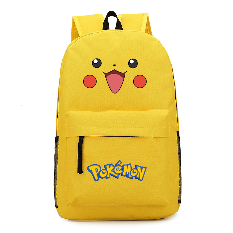VN 2017 hot Pikachu cute smile face printed canvas bag pouch young Pokemon gengar backpack boy / girls best gift<br><br>Aliexpress