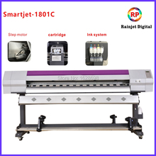 1.6m wide format high speed eco solvent printer with DX7 print head and Maintop software