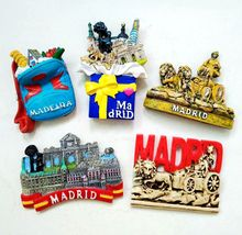 Madrid Spain Exquisite 3D Resin Fridge Magnets World Tourism Souvenirs Refrigerator Magnetic Sticker Home Decoration(China)