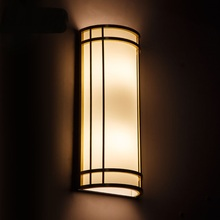 Modern minimalist LED double bed bedroom living room wall lamp Golden Corridor balcony wall waterproof hotel project(China)