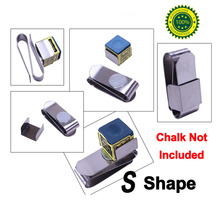 Little S Shape Magnet Pool Snooker Chalk Holder Billiard Accessories China(China)