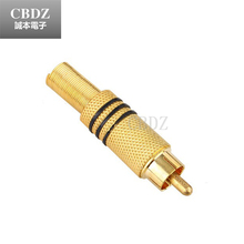 Gold Plated RCA Plug to  Audio Male Connector  Metal Spring BNC High Quality Hot Sale 10pcs/lot CBDZ