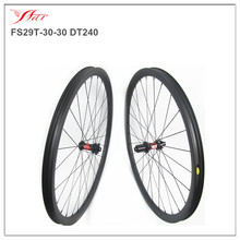 29er Mountain bike wheelsets 30mm 30mm built with DT swiss hub and Sapim aero spokes tubeless ready lightweight MTB wheelsets