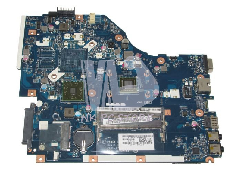 P5WE6 LA-7092P Rev 1.0 Mainboard For Acer Aspire 5253 5250 Laptop Motherboard DDR3 MBRJY02001 MB.RJY02.001(China (Mainland))