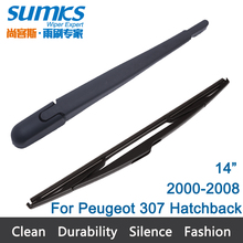 "New Rear Window Windshield Wiper Arm and  Blade For Peugeot 307 Hatchback (2000-2008) 14"" R14D640"