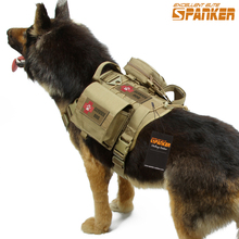 SPANKER Tactical Fighting Dog Clothes Suit Set Military Outdoor Training Dog Vest Clothes For Pets Universal Hunting Accessories