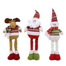 1 Pcs Hot Sale Santa Claus Snowman Reindeer Doll Christmas Decoration Xmas Tree Hanging Ornaments Pendant Best Gift(China)