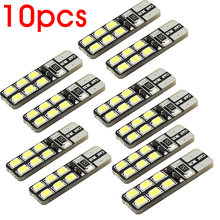 10pcs/lot T10 WHITE 12-2835/3528 SMD LED CANBUS OBC ERRO FREE DC 12V CAR DOME READING SIDE MARK DOOR LIGHTS BULBS(China)