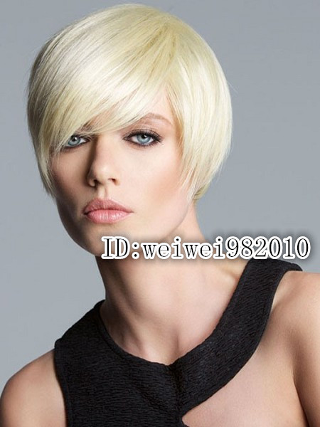 Top quality New Cool Sexy Short Bob Cut Platinum Blonde Wig Makes You More Attractive free ship and many colors for choose<br><br>Aliexpress