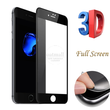 0.26mm Carbon Fiber Soft Edge 3D Tempered Glass Film For iPhone 7 Screen Protector Glass On For the iPhone 6 6S 7 Plus Saver 9H