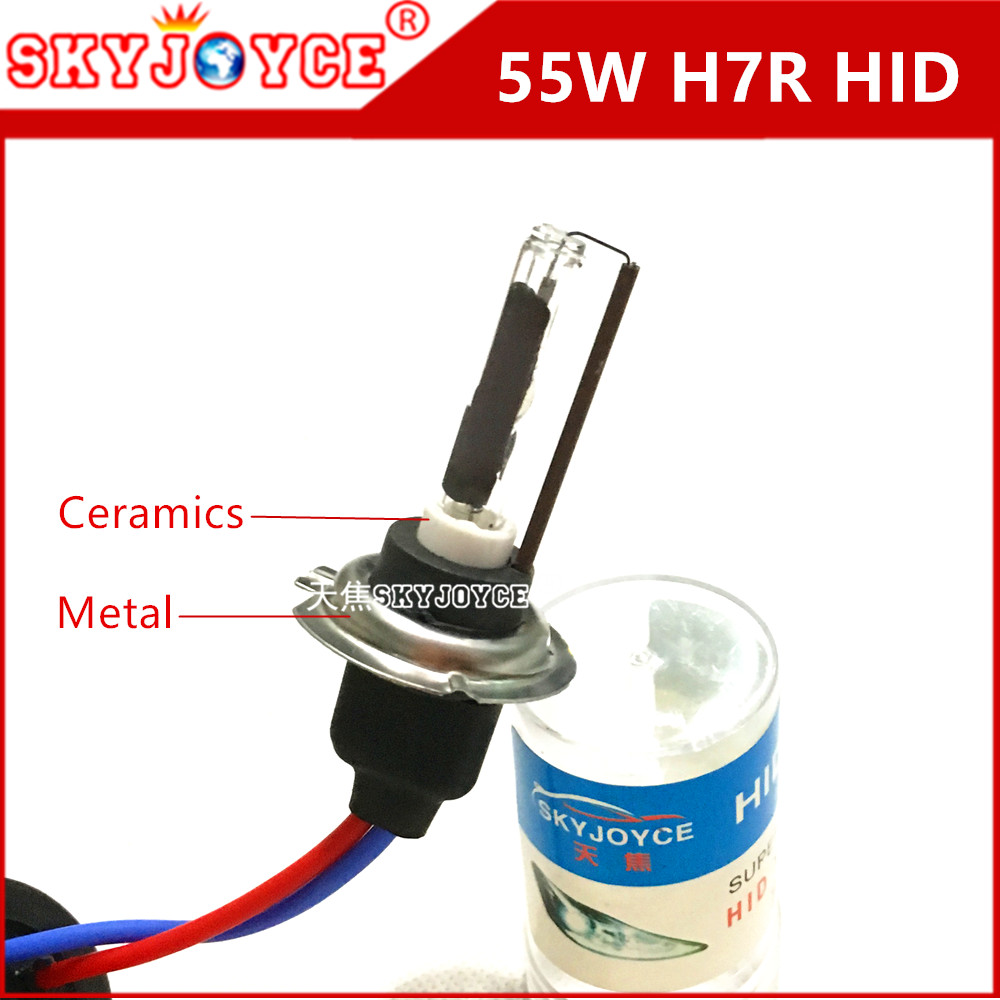 2X SKYJOYCE 55W H7R hid xenon lamp bulb 4300K 5000K H7R xenon white hid headlight accesory car styling external light H7R hid<br><br>Aliexpress