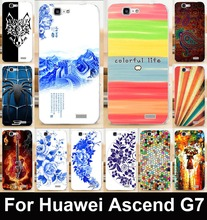 TAOYUNXI Soft TPU Hard Phone Cases For Huawei Ascend G7 C199 Artists Paint Back Cover Hood Skin Shield Dirt-resistants Bags(China)