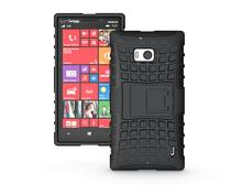 For Nokia Lumia 930 Case Heavy Duty Phone Cover For Nokia 929 Hybrid Shockproof Hard TPU Armor Rugged Rubber Coque with Stand