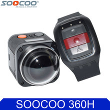 SOOCOO Cube 360H 4K Wifi Action Camera 360 Degree Panorama VR Camcorder 1080P 60pfs Full HD Mini Sport DV with Remote Watch