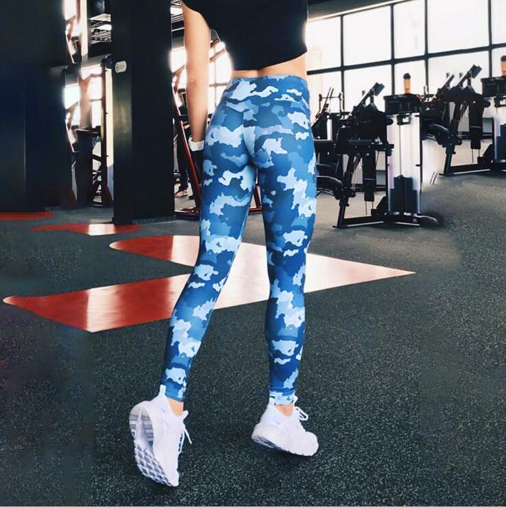 Hot Sale Women Leggings Workout Fitness Sexy Long Trousers Camouflage Leggings For Women Printed Sporting Pants With Ladies