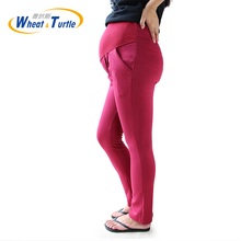 2017 New Design Good Quality Wine Cotton Maternity Capris All Match All Season Comfortable Maternity Casual Harlan Pants(China)