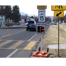 led display high speed radar speed limited sign traffic calming