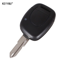 KEYYOU New 1 Button Uncut Blade Remote Car Key Shell For Renault Twingo Clio Kangoo Master NO Chip Keyless Entry Fob Case