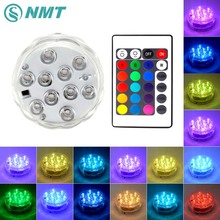 RGB LED Underwater Light IP67 Waterproof LED Swimming Pool Light led night Light for Wedding Party Home Bedroom Decoration(China)