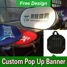 Free Design Free Shipping Vertical Top Banner Frame Custom Pop Up Banners Pop Up A Frame(China)