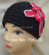 kids and Women handmade Cross crochet head band,knit hairband  can Mixed, Free Shipping