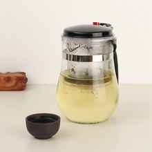 New 500ml Heat Resistant Glass Tea Pot Flower Tea Set Coffee Pot Kettle Puer Kung Fu Teapot Convenient Office Home Teaset