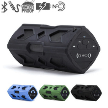 Waterproof Wireless Bluetooth Speaker NFC 3600mAh Li-ion Battery Shockproof Stereo Player Bike Audio Sound Subwoofer Box CX88
