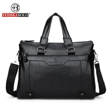FEIDIKABOLO Designer Handbags High Quality Men Tote Bag Men Shoulder Bags PU Leather Handbags Fashion Handbags 2017 Man Satchel