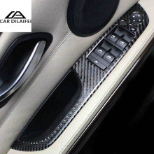 Buy 4 Pcs/Set Carbon Fiber Car Interior Decoration Door Window Switch Cover Trims bmw e90 LHD 2005-2012 3 series Accessories for $29.13 in AliExpress store