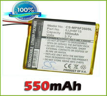 iPOD / MP3 / PMP Battery For SanDisk Sansa Fuze 4GB, Fuze 8GB battery (550 mAh) new(China)