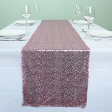 "12"" x 72"" Pink Sparkly Table Runners Wedding Event Party Banquet Glitzy Table Decoration(China)"