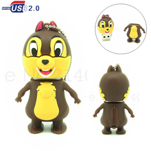 cute Chipmunks /Squirrel usb flash drive 4gb 8gb16gb32gb u disk pendrive real capacity memory stick cartoon pen drive gift