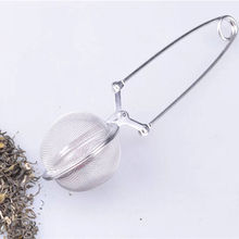 Loose Spring Spoon Tea Mesh Ball Infuser Filter Teaspoon Squeeze Creative Strainer Metal Stainless Steel Handle Spoon