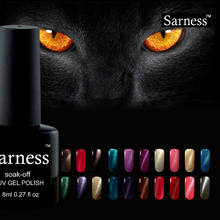 Sarness 3D Cat Eye Gel Nail Polish Magnetic Lucky Colors Gel Varnish Lacquer Cheap Nail Art Need Top and Base Gel