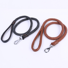Real leather pet chain Medium-sized dogs Leash high-quality nylon Woven medium Dog Traction Rope big pet rope Large Dog Lead